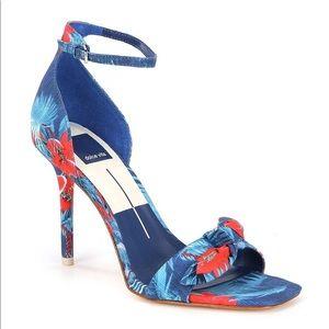 Dolce Vita Blue Helana Floral Heels